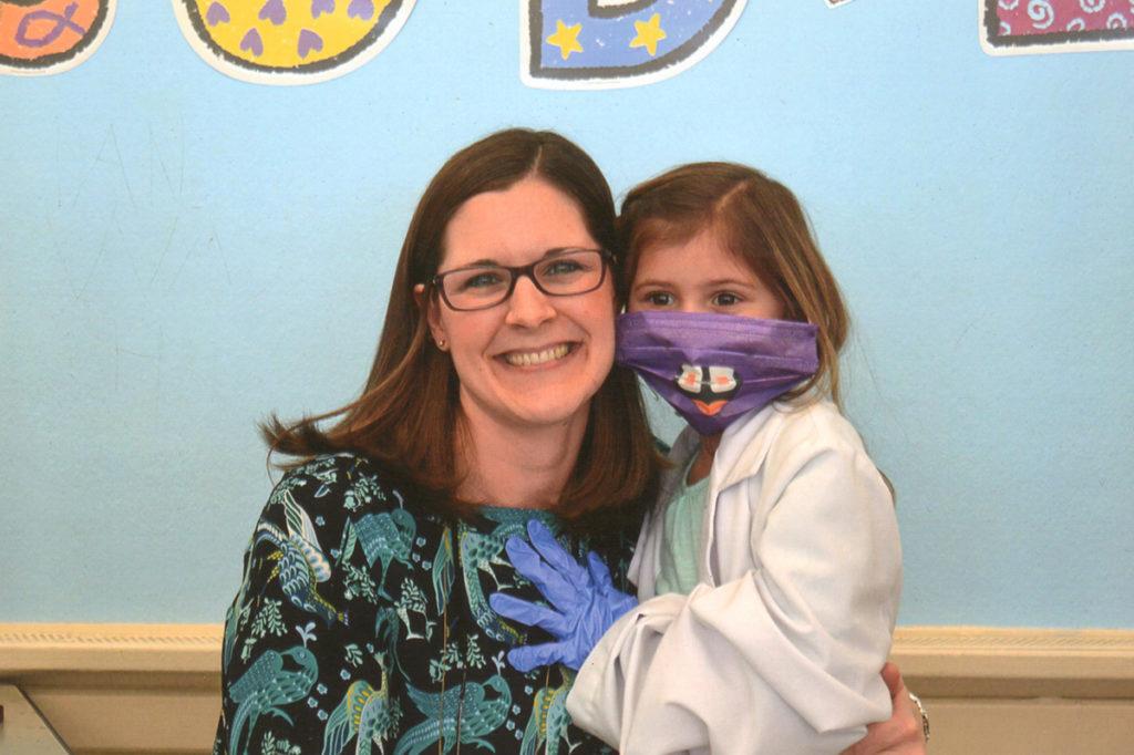 Dr. Erin Brown of Neighborhood Family Dentistry at St. John the Evangelist school in New Hartford, NY